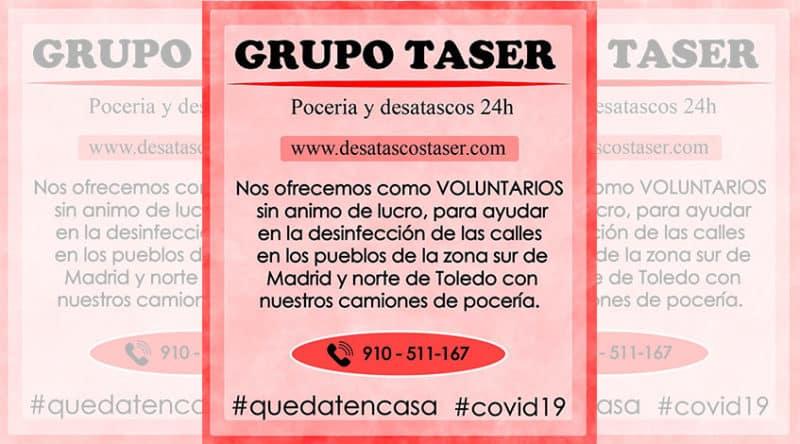 Imagen Destacada Colavoracion Grupo Taser COVID19