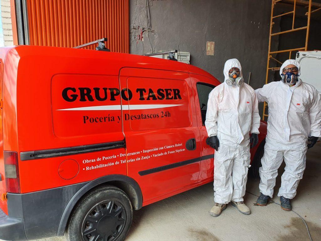 Operarios Desatascos Grupo Taser Covid19